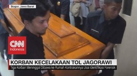 VIDEO: Korban Tewas Kecelakaan Tol Jagorawi