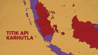 INFOGRAFIS: Titik Api Karhutla di Sumatera dan Kalimantan