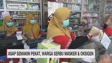 VIDEO: Asap Semakin Pekat, Warga Serbu Masker dan Oksigen