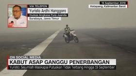 VIDEO: Kabut Asap Ganggu Penerbangan