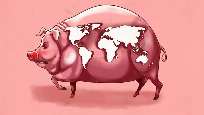 Infografis: Babi  Bikin Pusing  banyak negara