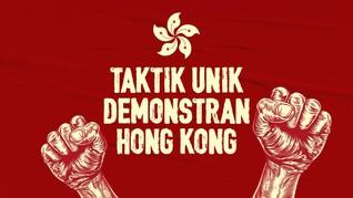 INFOGRAFIS: Taktik Unik Demonstran Hong Kong