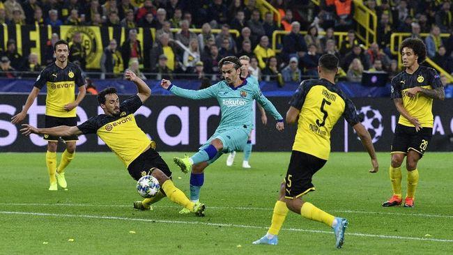 Barcelona Ditahan Imbang Dortmund di Babak Pertama