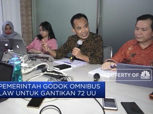 Omnibus Law Digodok Pemerintah Gantikan 72 UU