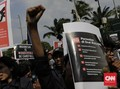 Aksi #GejayanMemanggil, Lalu Lintas Pertigaan Colombo Ditutup