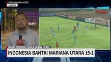 VIDEO: Indonesia Bantai Mariana Utara 15-1