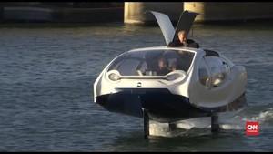 VIDEO: Paris Uji Alat Transportasi Baru, Taksi Air