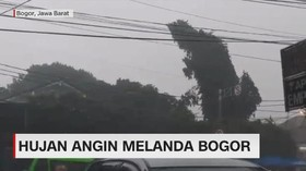 VIDEO: Hujan Angin Melanda Bogor