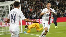 PSG Unggul 2-0 atas Madrid di Babak Pertama