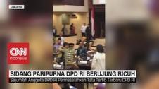 VIDEO: Sidang Paripurna DPD RI Berujung Ricuh