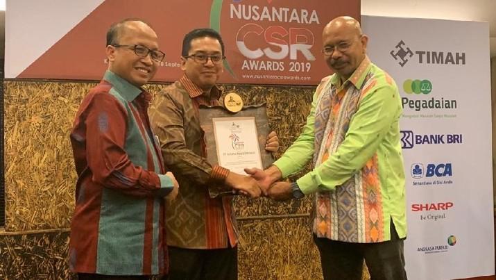 PT Hutama Karya kembali meraih penghargaan Zambrud CSR yang merupakan penghargaan tertinggi di bidang Corporate Social Responsibility (CSR).