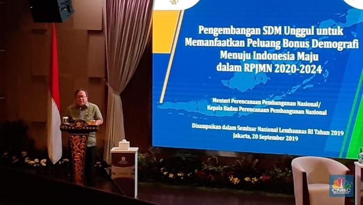 Menteri Perencanaan Pembangunan Nasional/Kepala Bappenas Bambang Brodjonegoro membeberkan kondisi kependudukan di Indonesia saat ini.