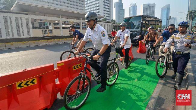 Dishub DKI Usul Anggaran Rp73 M untuk Jalur Sepeda Anies