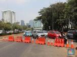 Antisipasi Demo, Jalan Depan di Gerbang Utama DPR/MPR Ditutup
