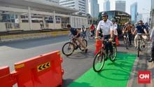 Anies Targetkan Jalur Sepeda 63 Km Hingga November 2019
