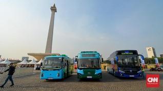 Bus Listrik Tranjakarta Belum Dapat Pelat Nomor Resmi