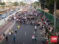 Dipadati Pedemo, Jalan Gatot Subroto Depan DPR Ditutup