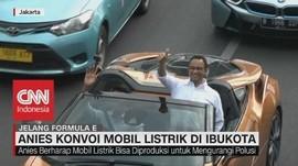 VIDEO: Anies Konvoi Mobil Listrik di Ibukota