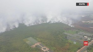 VIDEO: Rekaman Udara BNPB atas Lokasi Karhutla di Kalimantan