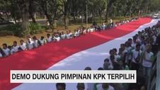 VIDEO: Demo Dukung Pimpinan KPK Terpilih