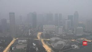 VIDEO: Kabut Asap Masih Selimuti Arena F1 Singapura