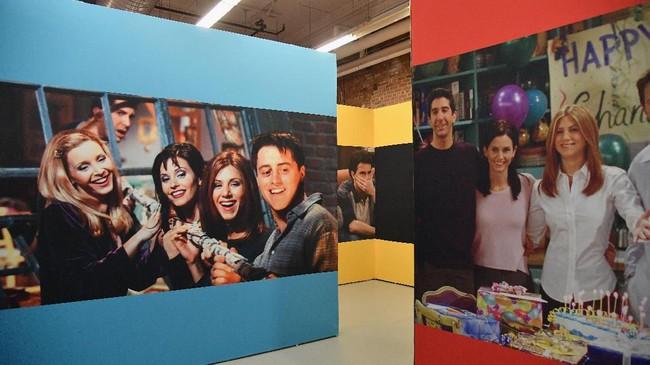 Ditayangkan dalam 236 episode, serial Friends yang berakhir pada 2004 tetap menjadi favorit banyak orang sampai saat ini.(Photo by Angela Weiss / AFP)