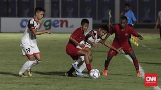 Timnas Indonesia U-16 Imbangi China di Babak Pertama