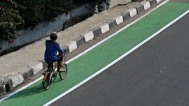 Penerobos Jalur Sepeda Jakarta Bisa Dipenjara 2 Bulan