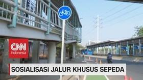 VIDEO: Sosialisasi Jalur Khusus Sepeda
