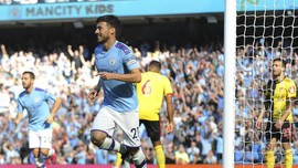 Hasil Liga Inggris: Man City Menang 8-0 atas Watford