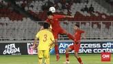 Timnas Indonesia U-16 tampil bagus di laga lawan China. Mereka bisa merepotkan pertahanan China lewat permainan cepat sejak babak pertama. (CNN Indonesia/Andry Novelino)
