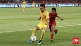 Skor imbang 0-0 bertahan hingga akhir pertandingan. China lolos otomatis sebagai juara grup karena unggul selisih gol atas Timnas Indonesia U-16. (CNN Indonesia/Andry Novelino)