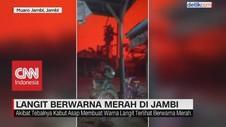 VIDEO: Viral Langit Berwarna Merah Darah di Jambi