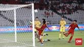 Meski gagal jadi juara grup, Timnas Indonesia U-16 bisa tetap tersenyum karena lolos ke putaran final dengan predikat sebagai runner up terbaik. (CNN Indonesia/Andry Novelino)