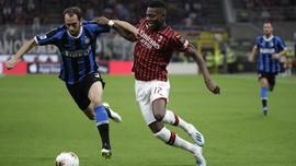 Hasil Liga Italia: Inter Kalahkan AC Milan 2-0
