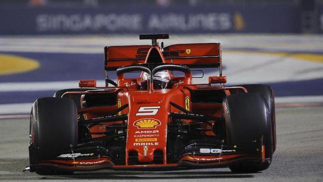 Hasil F1 GP Singapura: Vettel Juara, Ferrari Mendominasi