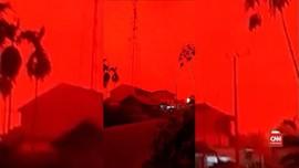VIDEO: Langit Merah Selimuti Jambi