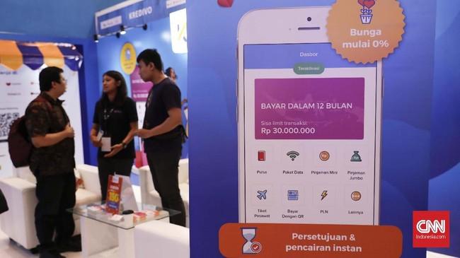 Acara IFSE 2019 ini menghadirkan lebih dari 100 perusahaan fintech yang sudah memberi layanan keuangan berbasis digital, serta mampu menjangkau sektordi luar perbankan konvensional. (CNNIndonesia/Safir Makki).