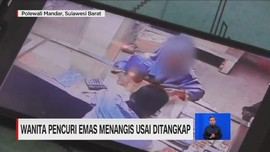 VIDEO: Wanita Pencuri Emas Menangis Usai Ditangkap