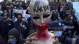 FOTO: Aksi Protes Mahasiswa