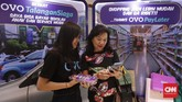 Perusahaan fintech yang berpartisipai di IFSE adalah perwakilan dari sektor-sektor fintech yang ada di Indonesia seperti peer to peer lending, digital payment, insurtech, fintech syariah, wealth management, dan inovasi keuangan digital. (CNNIndonesia/Safir Makki).