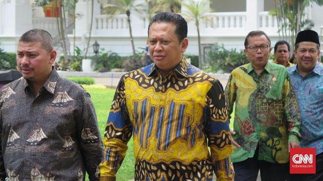 Bamsoet Pimpin Rombongan DPR Rapat Bersama Jokowi Bahas RKUHP