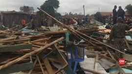VIDEO: Ruang Kelas di Kenya Runtuh, Tujuh Anak Tewas