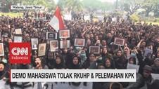 VIDEO: Demo Mahasiswa Tolak RKUHP dan Pelemahan KPK