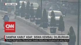 VIDEO: Dampak Kabut Asap Jambi, Siswa Kembali Diliburkan