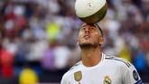Eden Hazard jadi motor permainan Chelsea dan mengantar The Blues juara Liga Europa. Musim ini Hazard berkostum Real Madrid.(Photo by GABRIEL BOUYS / AFP)