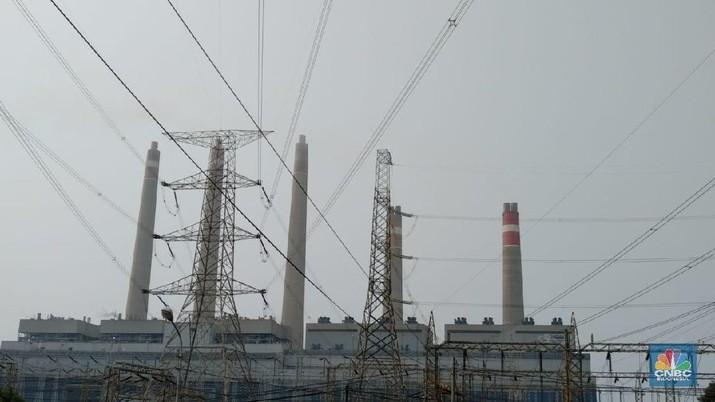 PT Indonesia Power melalui Unit Pembangkitan (UP) Suralaya menegaskan jika Pembangkit Listrik Tenaga Uap (PLTU) ini tidak menyumbang polusi untuk Jakarta. (CNBC Indonesia/Nia)