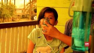 VIDEO: Anak-anak Jambi Kesulitan Bernapas Akibat Karhutla