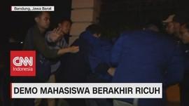 VIDEO: Demo Mahasiswa di Bandung Berakhir Ricuh