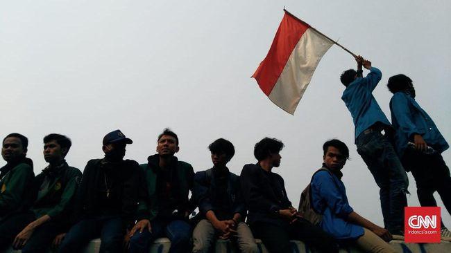 Massa HMI Bergerak di Surabaya, Tuntut Jokowi Cabut UU KPK